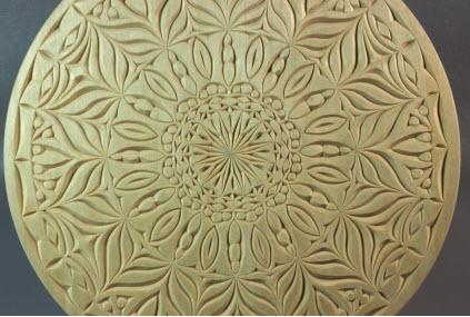10 inch flat plate mandala pattern