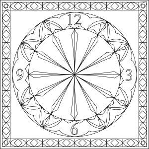 10 inch square clock gothic border