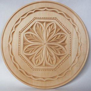 12 inch beaded scoop plate, leaf pattern