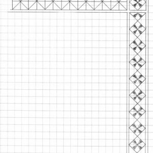 Hand drawn 3-corner border