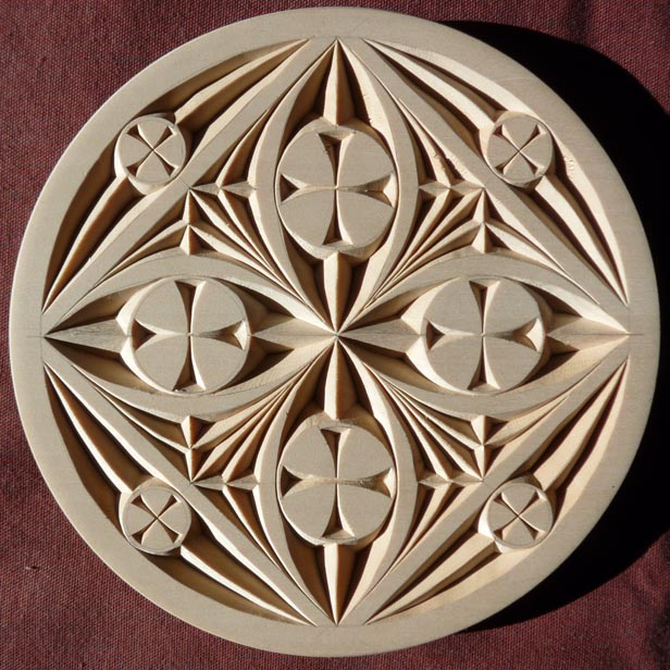 Plain edge flat plate my chip carving