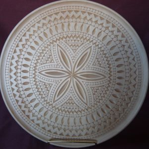 16 inch scoop plate, clothesbeater pattern