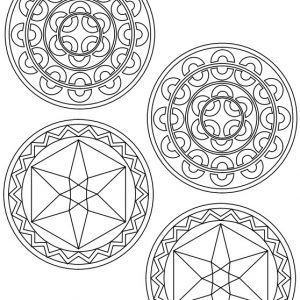 candy jar segmented and hexagon patterns