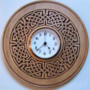 clock plate celtic knot pattern