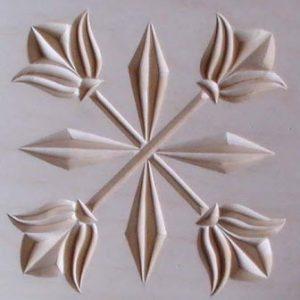 crossed tulips pattern