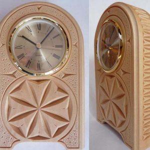 desk clock rosettes and edge pattern