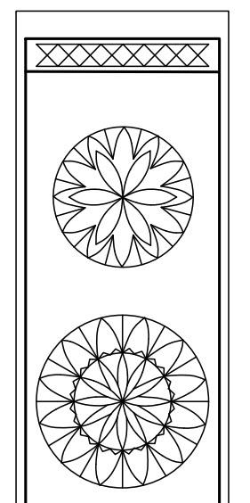 domino box top rosettes sliding lid box