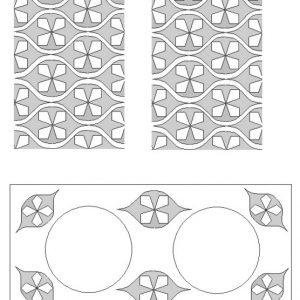 double tea light holder squogee pattern
