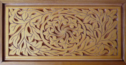 floral motif top panel