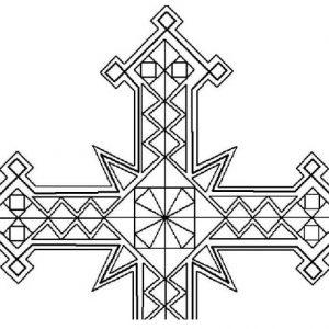 gothic cross geometric pattern 9×14 gothic cross