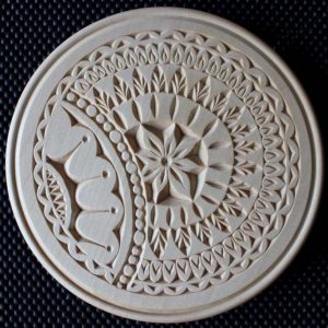 10 Inch Outside Beaded Flat Plate Induzie Pattern