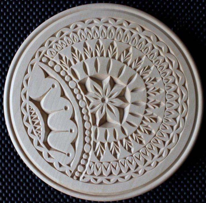 10 Inch Outside Beaded Flat Plate Induzie Pattern