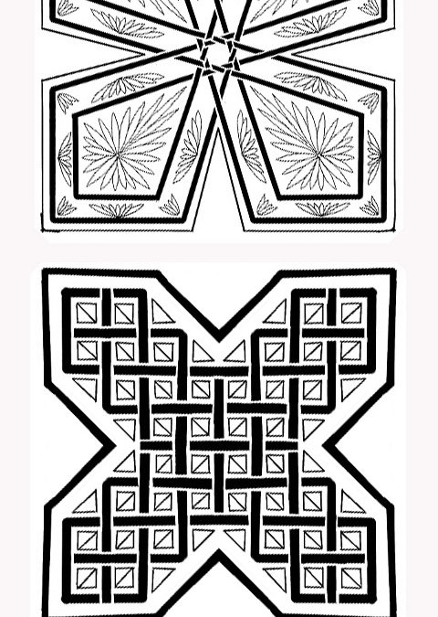 Medium Cross, Celtic Knot Geo & Floral Patterns