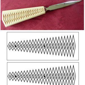 letter opener zigzag pattern
