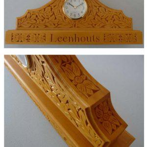 mantle clock floral pattern