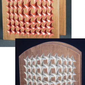 napkin holder distorted stars optical illusion