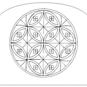napkin holder interlocking circles