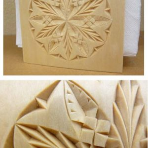 napkin holder old world style rosette