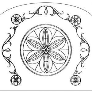 napkin holder rosette