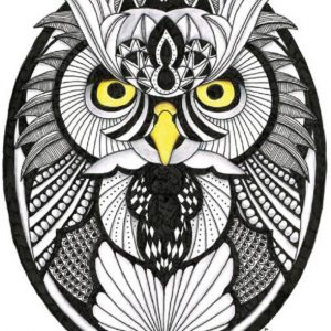 free form owl pattern