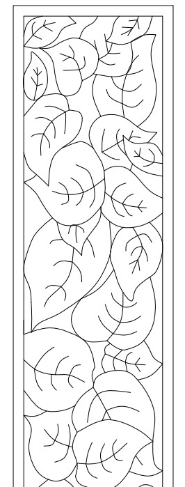 pencil box leaf positive image