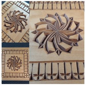 5×5 box rosette and cross border