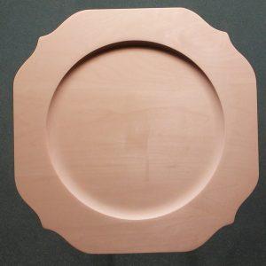 Scalloped Rim Square Plate