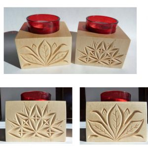 single tea light candle holders floral and geometric patterns