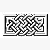Celtic Knot Font - 3D