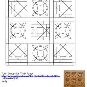 town center star trivet quilt pattern