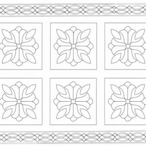tulip quilt pattern with lace border