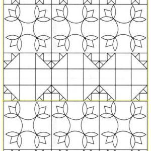 turkey tracks quilt pattern serving tray, tea box