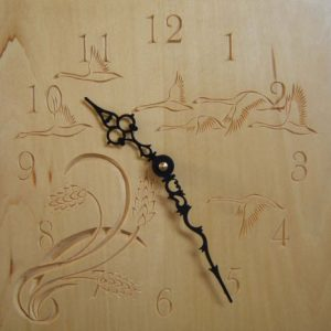 free form geese pattern wall clock