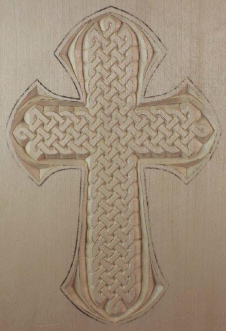 Medium Cross, Celtic Knot pattern