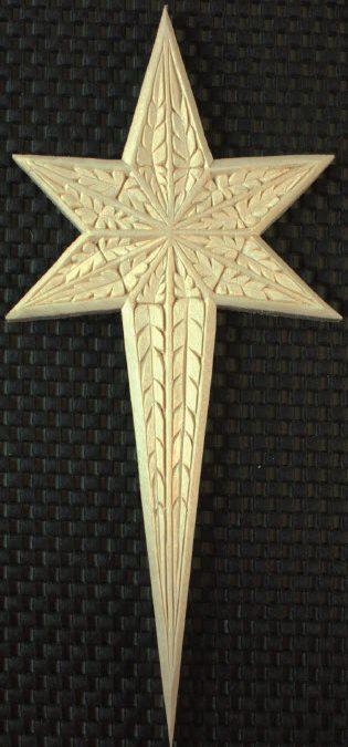 Medium Star, Old World Style leaf pattern