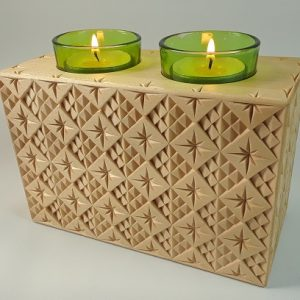 Double Tea Light Holder, Ahsap pattern (Adobe pdf)