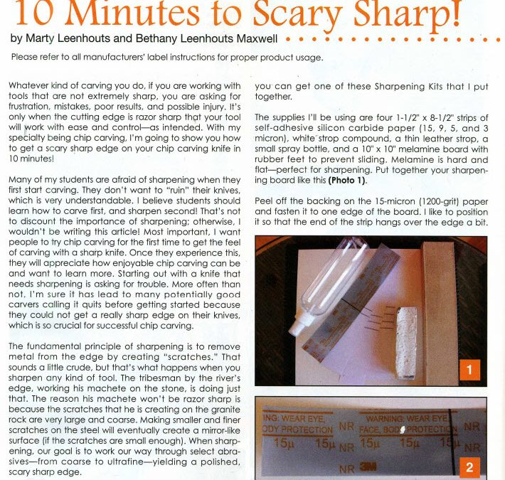 How to Sharpen Your Knife – Scary Sharp!