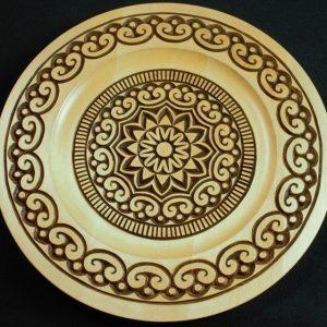 10 inch rim plate, Micromacroart Mandala Pattern – Adobe (pdf)