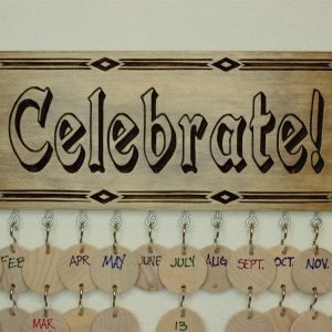 Celebrate family birthday board- Adobe (pdf)